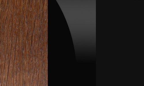 Dąb antyczny / czarne szkło / czarny