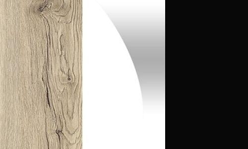 Sanremo rustykalny / biały połysk / dąb czarny