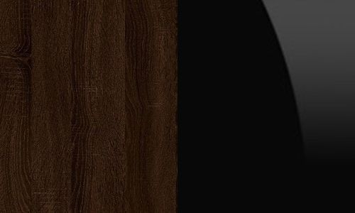 Sonoma ciemna / czarny połysk