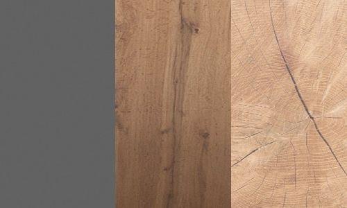 Szary / dąb wotan bazaltowy / elemnty pnia