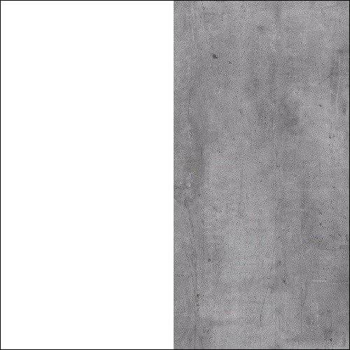 Biały / beton millenium