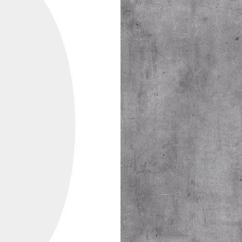 Biały połysk / beton millenium