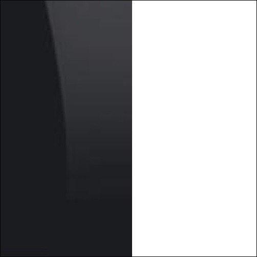 Czarny połysk / biały