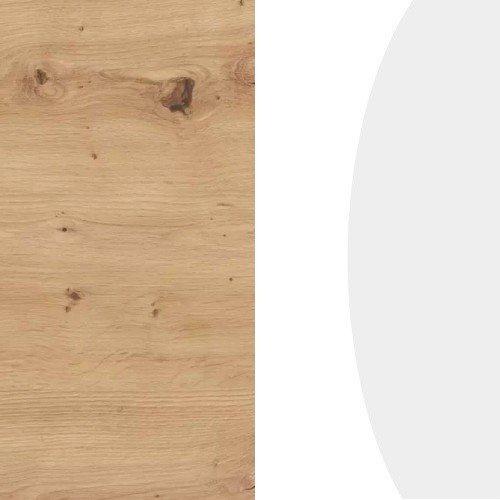 Dąb artisan / biały połysk