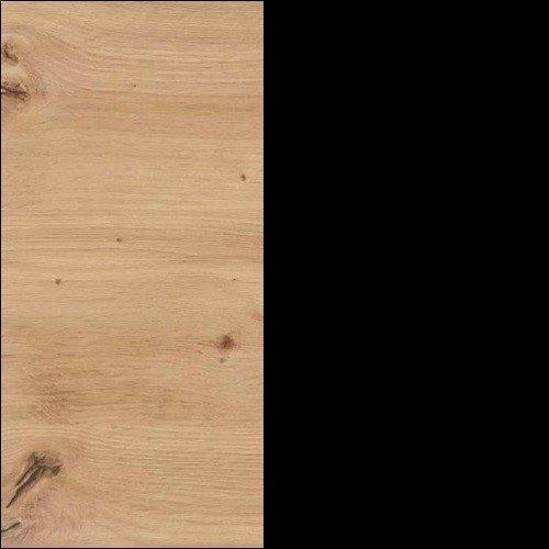 Dąb artisan / czarny mat