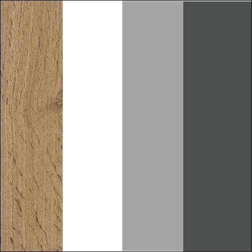 Dąb wotan / biały / szary / grafit