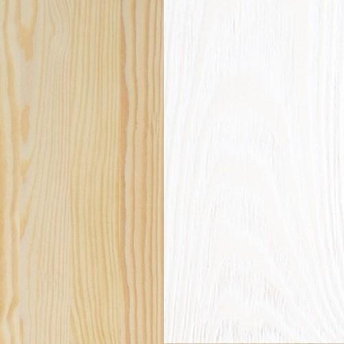 Sosna naturalna lakierowana / bejca biała (kolor 20)