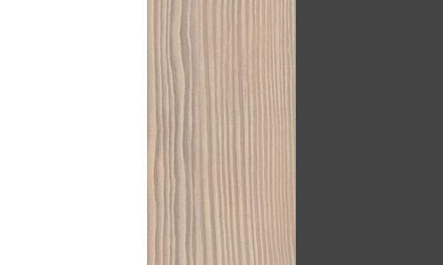 Biały mat/ sosna avola / grafit